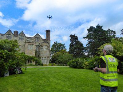 Drone at Benthall Hall